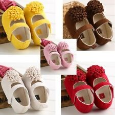 Baby shoes Peony concise design girl infant toddler crib 3 sizes 0-18 months new
