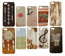 Floral Aztec Elephant Pattern Wood Grain Case for iPhone 4s 4 5c 6 Quality Trend