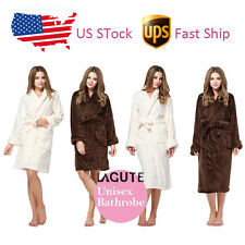 Lagute Bathrobe WOMENS MENS Ladies Gift Dressing Gown Robe Plush Pajamas US Ship