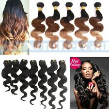 4 bundles Ombre Remy Brazilian Body Wave Human Hair Weave Extension weft 200g