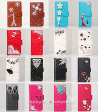 Color Bling Flower Bow Wallet Leather Flip Case Cover for Various Samsung Phone