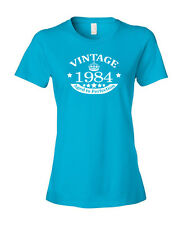 Vintage Crown 1939-1998 Any Year Birthday Women's Fashion Fit T-Shirt Light Blue