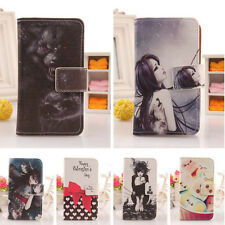 1X Book-Style Flip PU Leather Case Skin Protection Cover For Blu Smartphone New