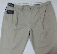 NWT $98 Polo Ralph Lauren Classic Fit Pleated Khaki Pants Mens FREE SHIP NEW B&T