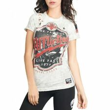 AFFLICTION Womens T-Shirt METAL CORPS Biker UFC American Fighter Sinful S-L $58