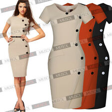 Women Business Pencil Bodycon Formal Evening Cocktail Party Dresses