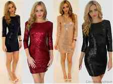 NEW WOMENS LADIES WINE RED WHITE BLACK SEQUIN PARTY CHRISTMAS MINI DRESS (NZ KW)