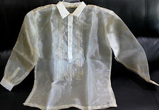 BARONG TAGALOG PINA DESIGN SIZE 20 FOR TEENAGE  BOYS AND  SMALL SIZE ADULT