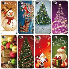 Hot Colorful Christmas Style Elk Tree Ball Case Skin For Apple iPhone 4 4S 5 5S
