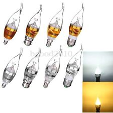 Dimmable E27 E14 B22 Flame 3W 6W 9W High Power LED Chandelier Candle Light Bulb