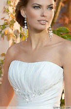 New White/ Ivory Wedding Dress Bridal Gown Stock size 6-8-10-12-14-16
