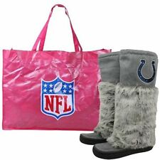 NFL Football Indianapolis Colts Ladies Gray Devotee Knee-High Boots