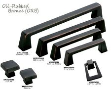 Oil Rubbed Bronze Square Cabinet Drawer Pulls and Kitchen Handles CATA34-A