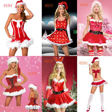 New Ladies Santa Costume Christmas Sexy Lady Xmas Outfit Dress Fancy Red 6 Style