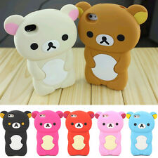 Soft Silicone back Case skin Cover 3D Bear Gel Rubber For Apple Iphone 5C 5 5S