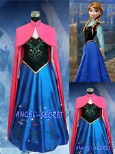 New Frozen Anna Princess Costume Cosplay For Adult Women Cosplay Dress Size 6-24