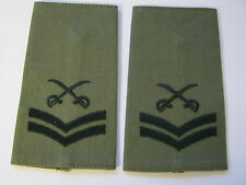 Cross Swords Olive Rank Slide with Black Embroidery -  CPL