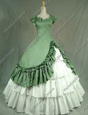 Southern Belle Gown Victorian Dress Theater Women Halloween Costume 208