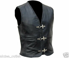 Mens Leather Waistcoat for Bikers and Fashion - Clearance Sale - 50% Off  S-7XL
