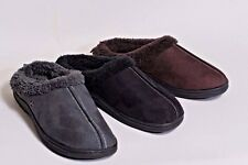New Men's Faux Suede Fleece Lined Shoe's, Clogs, House Slippers, size 8.5 - 13