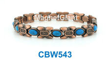 Turquoise Gemstone - Women Copper link high power magnetic bracelet CBW543