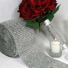 "Popular 4.75""x1 Yard Diamond Mesh Wrap Sparkle Crystal Ribbon Party Decoration"