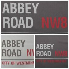 Abbey Road NW8 The Beatles Studio London Upholstery Cushion Panel Fabric
