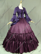 Victorian Gothic Period Dress Reenactment Gown Theatre Clothing Cosplay Punk 173