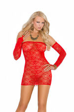 Vivace Red Diamond Pattern Bandeau Dress with Open Back and Matching Gloves