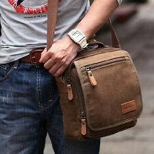 Men's Military Canvas Messenger Shoulder Hiking Working Student Casual Tote Bag