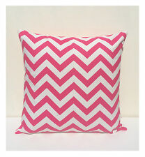 Hot Pink & White zig zag/ chevron cushion cover 45cm x 45cm