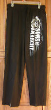 Sons Of Anarchy SOA Distressed Grim Reaper Logo Sleep Lounge Pants Licensed NWT