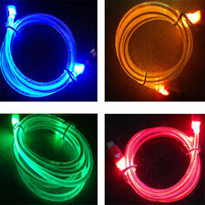 LED Visible Light USB Charging Cable Cord Data Sync Charger For Samsung Sony Htc