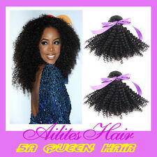 "100% brazilian Human Hair weft Unprocessed kinky curly 12-26"" DHL free shipping"