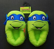 MUTANT NINJA TURTLES Plush Step-In Slippers NWT Toddler's Size 9/10 or Boys 13/1
