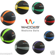 Wacces Weighted Fitness Medicine Ball Rubber Muscle Driver 2 lb 6 8 10 12 15 lbs
