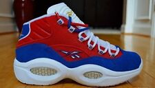 Men's Reebok Question Mid Banner Red White Blue M46120 Iverson Basketball