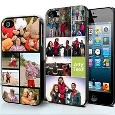 Personalised Photo Collage Phone Case Apple iPhone 4 4s 5 5s white black silver