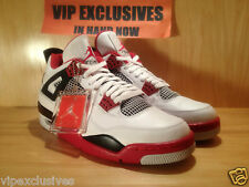 2012 Nike Air Jordan Retro 4 IV White/Varsity Red-Black-Fire Red - IN HAND NOW