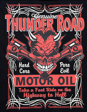 Highway to Hell Devil Thunder Road Oil Pure Evil Hot Rod Biker T shirt m-3xl