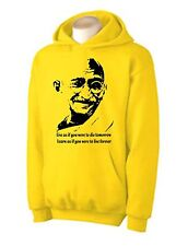 GANDHI HOODY - Peace Political India Philosophy T-Shirt  - Choice of 6 Colours