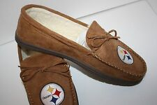 Pittsburgh Steelers Mens Moccasin New Slippers MUST SEE.. GREAT GIFT IDEA!