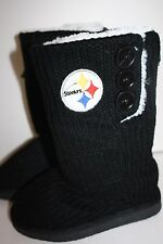 Pittsburgh Steelers Womens Boots/ Slippers Black