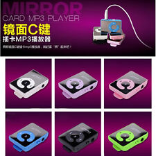 Hot 7 Colors  Mirror mini Clip MP3 Player UP To 1-8GB Micro SD TF Memory Card