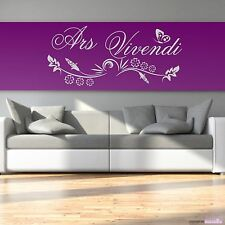 Wall Decal Sticker Ars Vivendi Art Of Living Phrase Home Decor