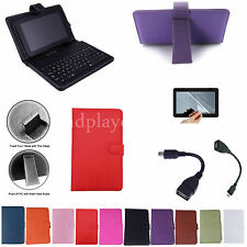 "7 inch Keyboard PU Case+Free Film For 8"" Nextbook NXW8QC16G Windows 8.1 Tablet"