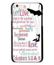 Christian Theme Life of Love Quote Colossians 3:12&14 Case Cover For iphone 6