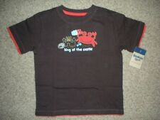 NWT Oshkosh KING of the sand CASTLE beach CRAB brown TEE t-shirt BOYS toddler 3T