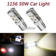 New White 1156 BA15S 50W 10 LED High Power Car Turn Signal Tail Brake Light Bulb