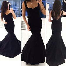 Women Sleeveless Mermaid Prom Ball Formal Gown Cocktail Evening Party Long Dress